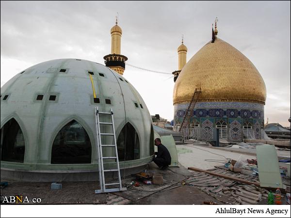 مراحل پایانی مسقف سازی حرم حضرت عباس علیهالسلام / گالری تصویر