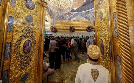 حال و هوای حرم امیر مؤمنان(ع) در روز عید غدیر خم/ گزارش تصویری
