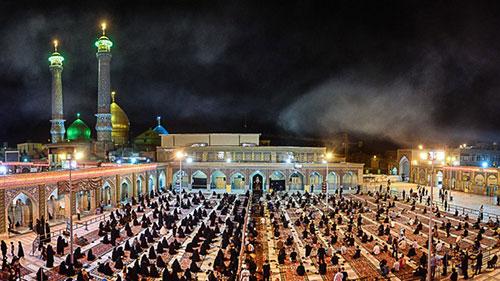 مراسم سوگواری شهادت امام سجاد (ع) در آستان حضرت عبدالعظیم (ع)