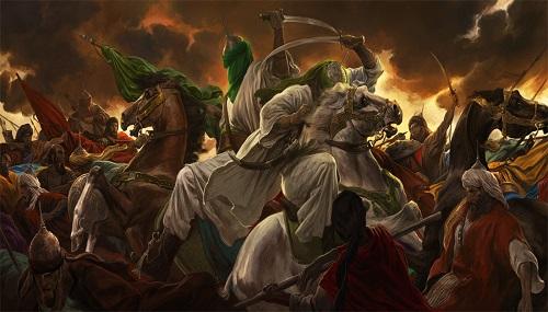معرفی اثر عاشورایی «حسن روحالامین» در سایت آستان مقدس حسینی