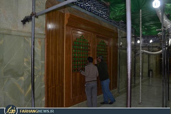 ضریح موقت در حرم امام حسین علیه السلام / عکس