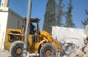 تخریب مسجد فاطمهالزهرا به دست تکفیریها