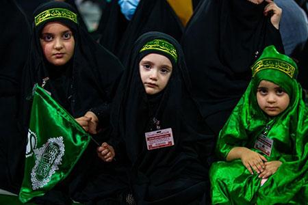 بینالحرمین میزبان کودکان حسینی / گزارش تصویری
