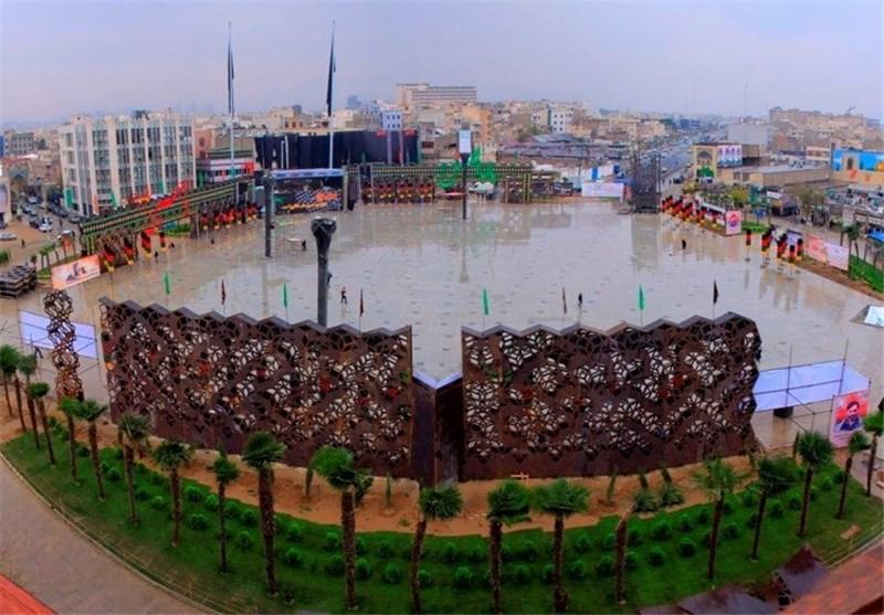 برگزاری آئینهای دومین سوگواره خمسه در میدان امام حسین (ع)