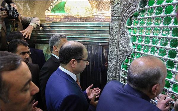 رئیس مجلس عراق، حرم امام حسین(ع) را زیارت کرد