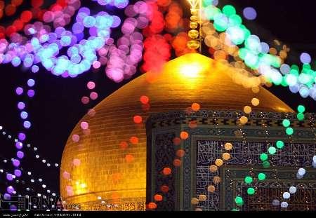 نورباران مشهد الرضا در شب میلاد حضرت زینب(س)