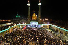 مراسم سوگواری سیدالشهداء در آستان عبدالعظیم الحسنی