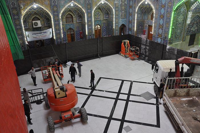 صحن زیر زمینی در حرم حسینی ساخته میشود