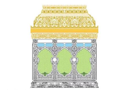 ساخت ضریح جدید حضرت زینب (س) آغاز شد