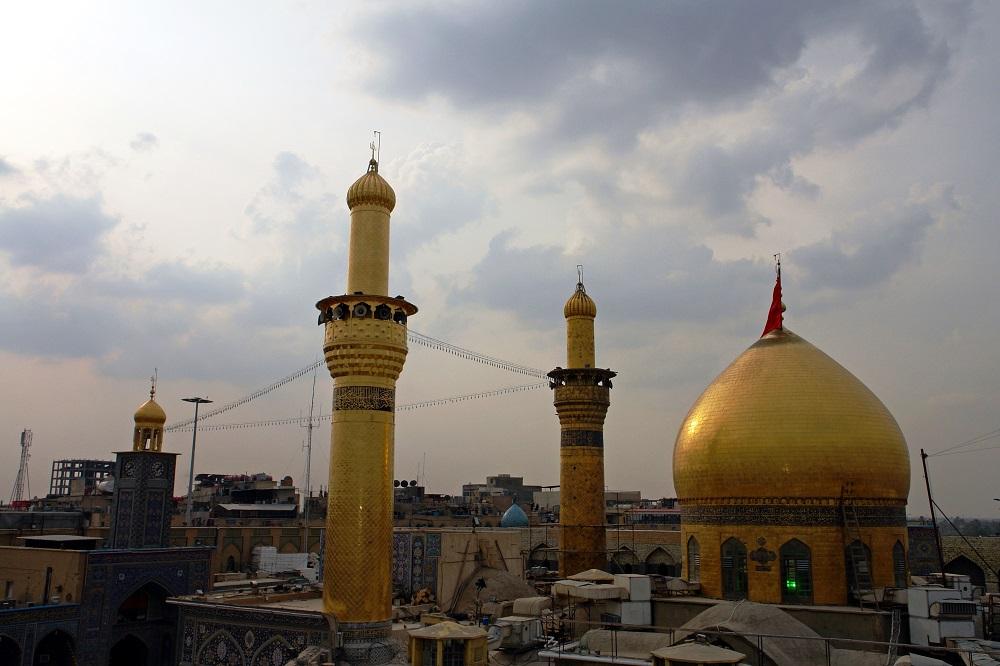 ساخت گنبد جدید حرم امام حسین علیه السلام آغاز شد