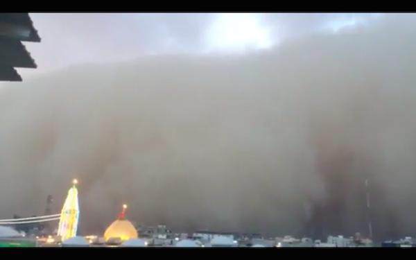 آیا طوفان در مقابل حرم امام حسین (ع) تغییر جهت داد؟