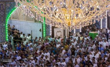 گزارش تصویری از نماز عید سعید فطر در کربلا