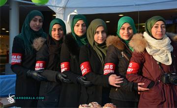 گزارش تصویری از مجموعه اقدامات کمپین «حسین کیست؟»