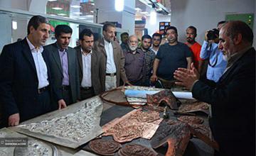 گزارش تصویری از کارگاه ساخت ضریح خیمهگاه امام حسین (ع)