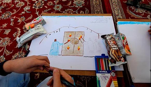 مظلومیت حضرت زهرا(س) در نقاشی کودکان