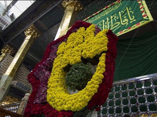 گل آرایی حرم حضرت عباس (ع)