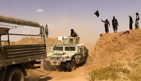 15 تانکر نفت وابسته به داعش منهدم شد