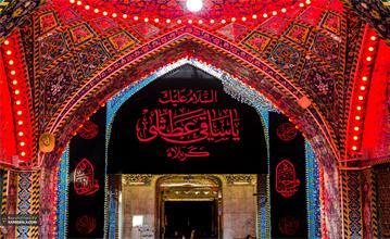 خلق یک تابلوی هنری با موضوع حضرت عباس (ع)