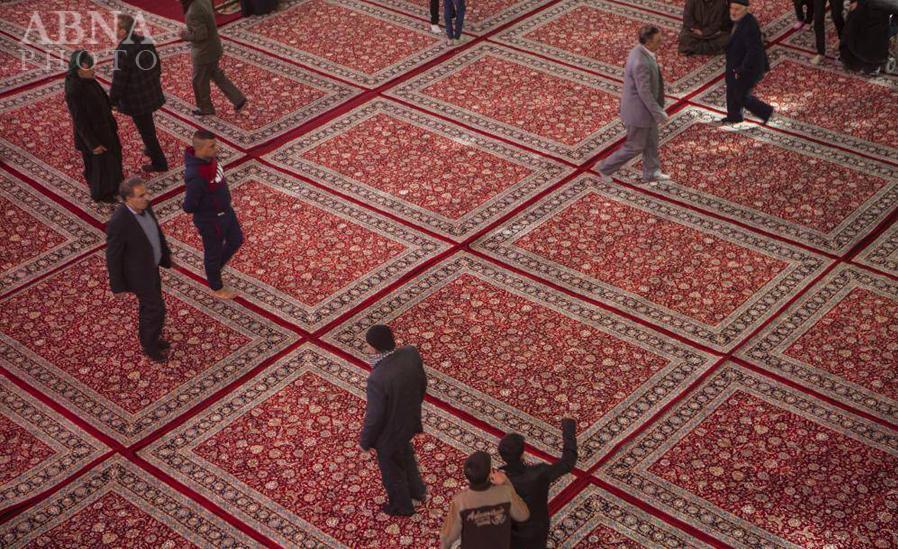 فرشهای جدید ایرانی در حرم حضرت عباس (ع) + تصاویر
