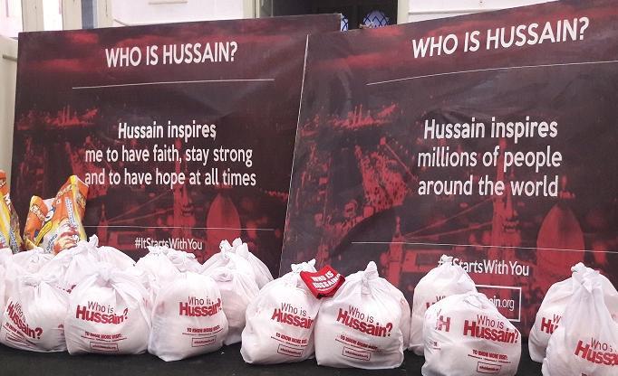 توزیع بستهبندیهای غذا توسط موسسه «حسین کیست؟» در هند
