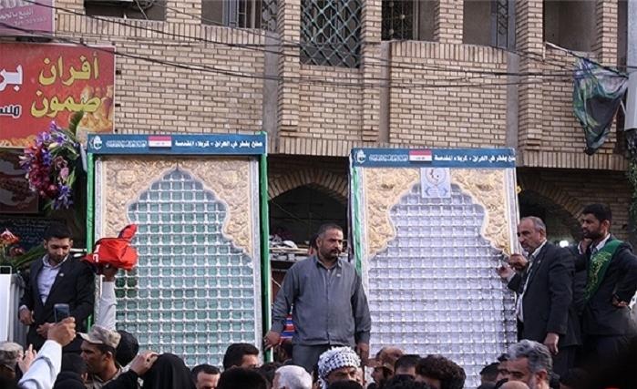 رونمایی از باب القبله و ضریح جدید حضرت عباس (ع)