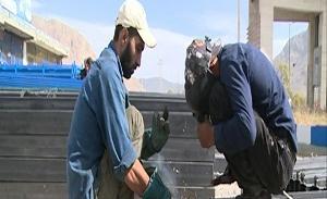 ساخت حمام سیار برای زائرین اربعین حسینی