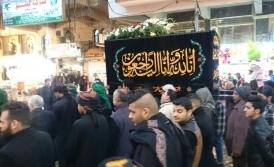 عزاداری و تشییع نمادین حضرت زهرا (س) در کاظمین + تصاویر