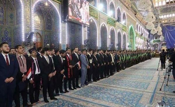 800 فارغ التحصیل پزشکی در حرم امام حسین (ع) سوگند یاد کردند
