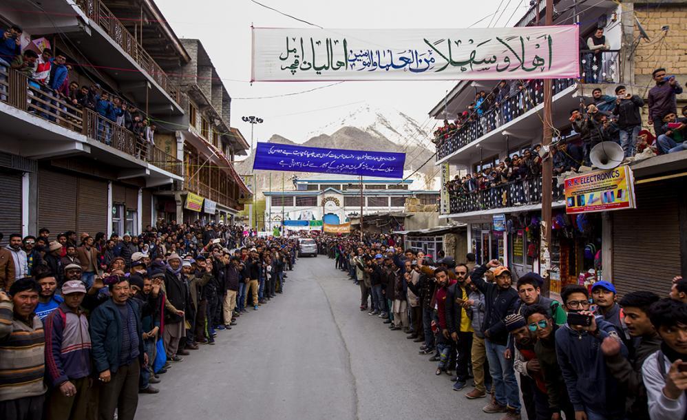 آستان های مقدس حسینی، عسکری و عباسی مهمان شهر کارگل هند + تصاویر