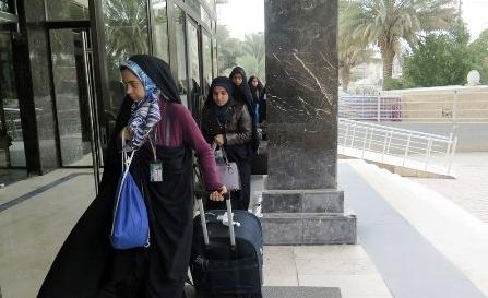 نخستین گروه دانشجویان دختر وارد کربلا شدند