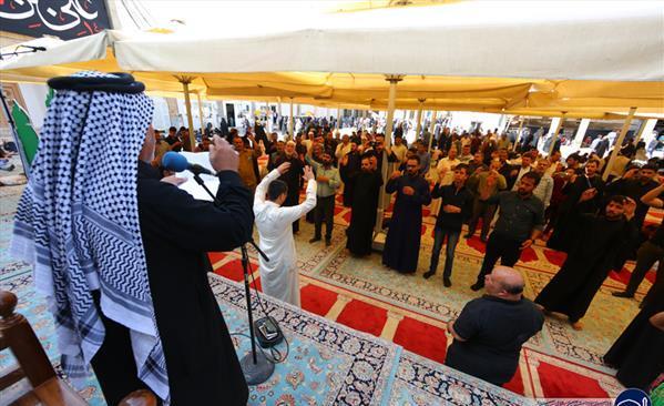 حضور دستههای عزاداری در حرم امامین عسکریین (ع) به مناسبت شهادت امام هادی (ع) + تصاویر