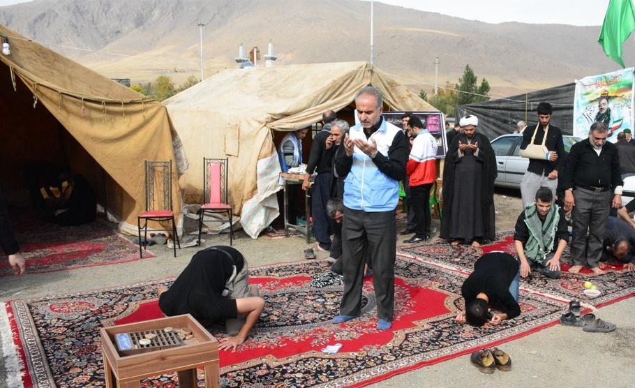 برپایی موکب اربعین حسینی ستاد عالیات صومعهسرا در کربلای معلی