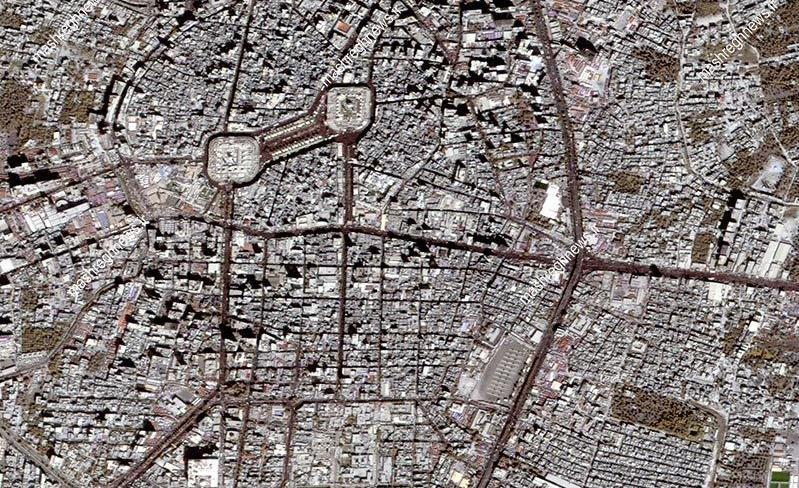 جمعیت پیادهروی اربعین از دید دوربینهای ماهوارهای مدار زمین