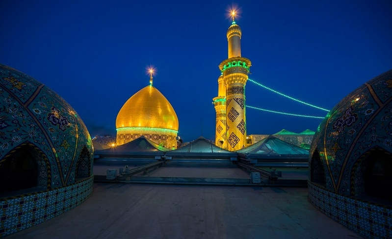 حضور دستههای عزادار در حرم مطهر عباسی به مناسبت ایام فاطمیه