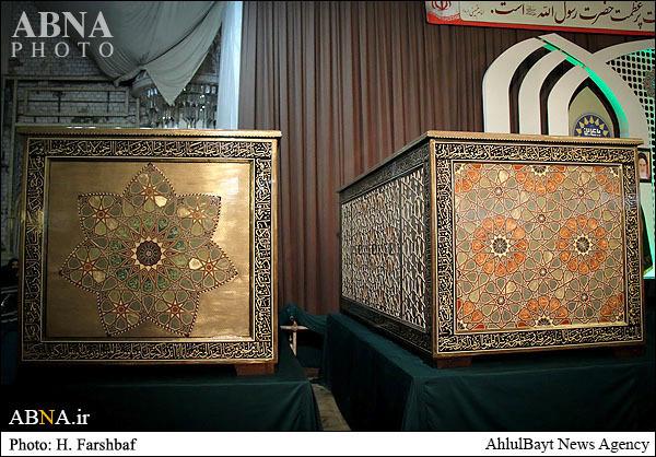 ارسال صندوقهای ضریح حرمین کاظمین(ع) از مشهد به عراق