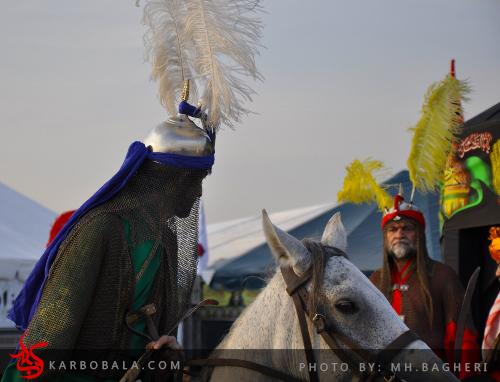 تعزیه خوانی سنتی خوانسار در کنار نمایشگاه نسخ خطی در فرهنگسرای نیاوران