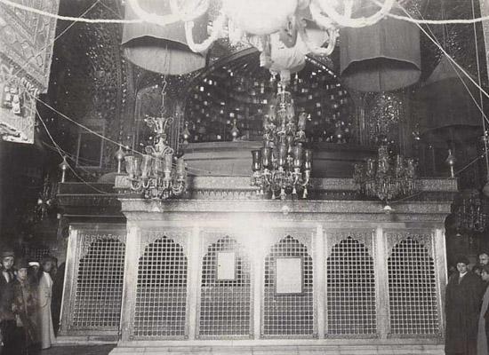 عکس قدیمی از ضریح سیدالشهدا علیه السلام