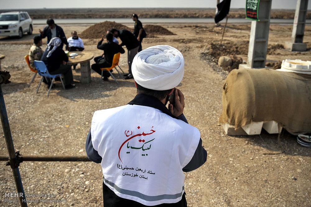 آمادهسازی راهها و موکبهای مرز چذابه در اربعین حسینی/ گزارش تصویری