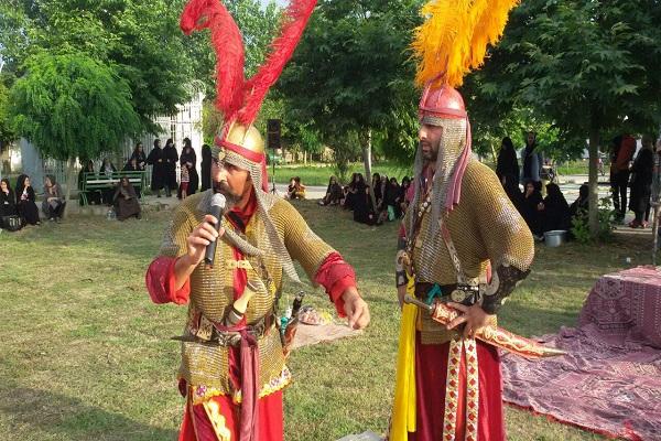 اجرای شبیه خوانی حضرت ابوالفضل عباس (ع) در هادی شهر