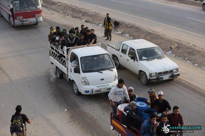 شیوه های حمل و نقل زائرین از نجف به کربلا/ گزارش تصویری