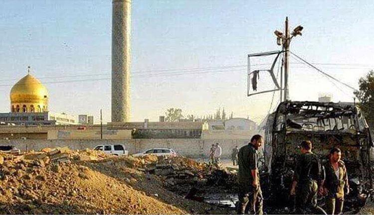 فیلم انفجار تروریستی نزدیک حرم حضرت زینب (س)