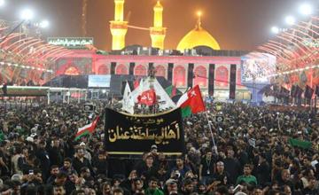 تصاویری از شب اربعین حسینی در بینالحرمین