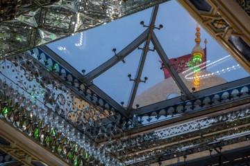 افتتاح پروژه ساخت سقف صحن مطهر عباسی همزمان با میلاد حضرت زهرا (س)