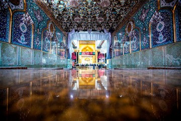 بابالقبله حرم حضرت عباس (ع) پس از اتمام سنگفرش / گزارش تصویری