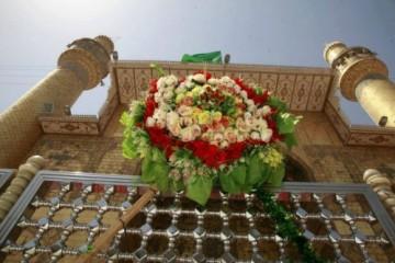 تزیین و گل کاری خیابان های نجف و حرم مطهر امام علی (ع) + تصاویر