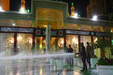 تدابیر بهداشتی آستان مقدس امام کاظم (ع) در استقبال از عزاداران / گزارش تصویری