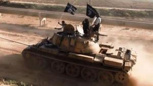 تانک داعش شرق کوبانی را بمباران کرد
