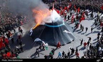اعلام مکان برگزاری مراسم نمادین سوزاندن خیمه ها در کربلا در روز عاشورا