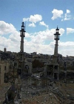 تصویری از ویرانی حرم حضرت سکینه (س) در بحران سوریه