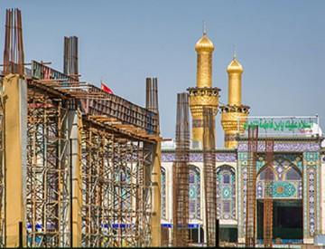تصاویری از مراحل ساخت صحن حضرت زینب (س)